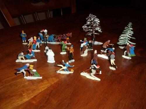 Antique Set 1920s Hans Heinrichsen Germany Flat Metal Christmas Figurines