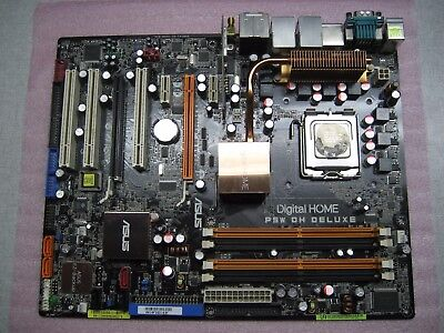 ASUS P5W DH DELUXE LGA775 INTEL MOTHERBOARD W/ INTEL Heart 2 DUO MALAY 2.40GHZ