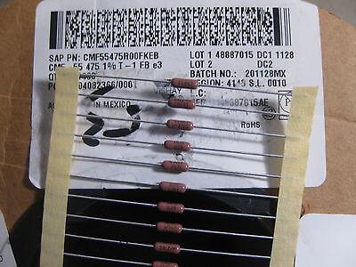 10x Cmf55475r00fkeb Metal Film Resistors 14watt 475ohms 1