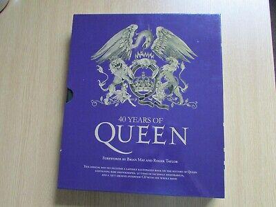 40 YEARS OF QUEEN Purple Box Set containing facsimile memorabilia and CD