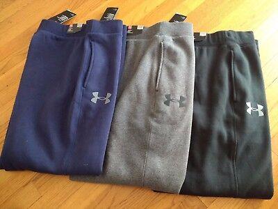 (NWT, $45. Under Armour Mens Rival Fleece Cotton Blend Sweatpants Pants #1248351 )