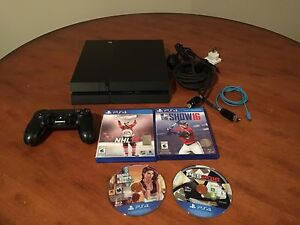 PS4 BUNDLE WITH GAMES FOR SALE $320!