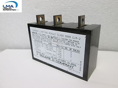 Square D 9999 Clm-2 Contactor Current Limiting Module 600v 3-pole