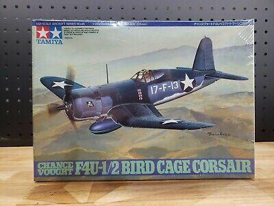 Vintage Tamiya 61046 1/48 Chance Vought Bird Cage Corsair F4U-1/2 Model Kit 1996