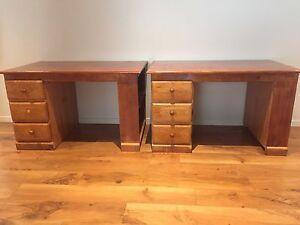 Stained pine wood desks Caulfield Glen Eira Area Preview