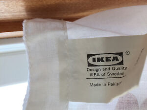 IKEA white sheets curtains with panels full length like new