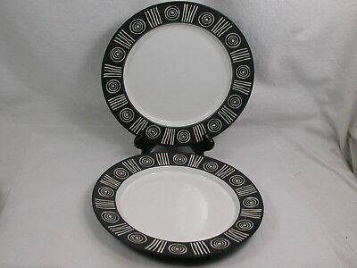 2 Vintage Pottery Barn Bongo Black 11