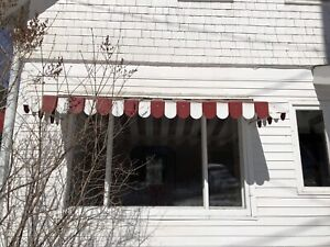 Old metal awning