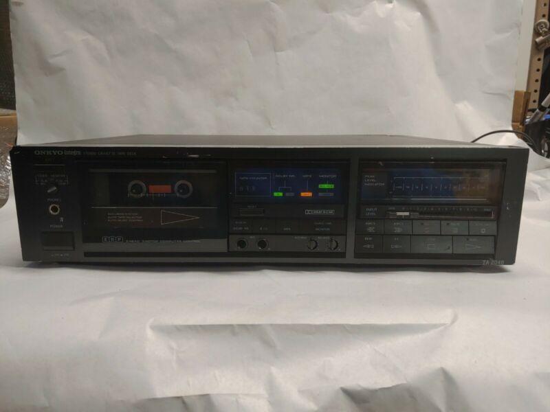 Vintage Onkyo Integra TA-2048 3-Head ERP Stereo Cassette Tape Deck read