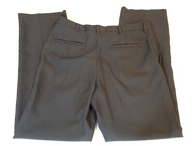 Kenneth Cole Reaction Gray Polyester Dress Pants Slacks 34 x 32 Mens  Grey Polyester Mens Dress Pants