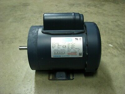 Leeson Electric Motor 34 Hp 3450 Rpm 115230 Volt 1phase C6c34fk36f