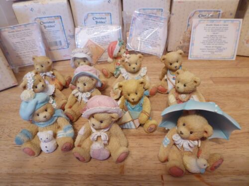 Cherished Teddies MONTHLY FRIENDS Complete Set of 12 Bears Figurines Months MIB