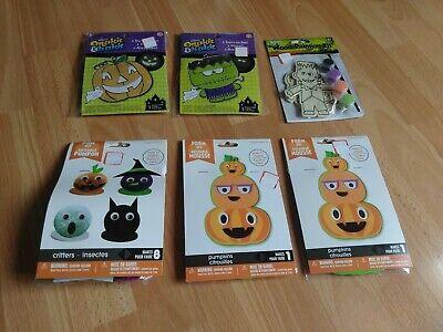 Paint Halloween Crafts (Halloween Crafts Lot of 6 - Makit Bakit Suncatchers, Paint By Numbers, Foam)