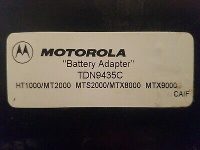 Motorola Battery Adapter Tdn9435c Charger And Conditioner Pocket Ht1000mt2000
