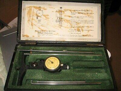 Vintage Reliant Model B-1500 Depth Gage Gauge W Wooden Casebits Precision Tool