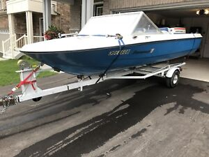 1987 Peterborough 15' boat with 55 hp Johnson and trailer