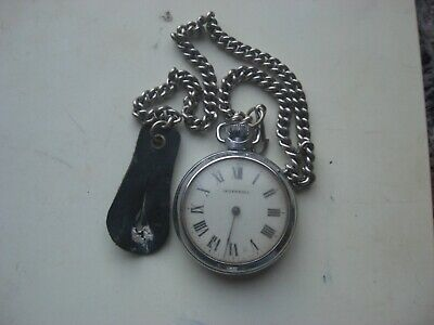 INGERSOLL 21 JEWELS POCKET WATCH WITH CHAIN