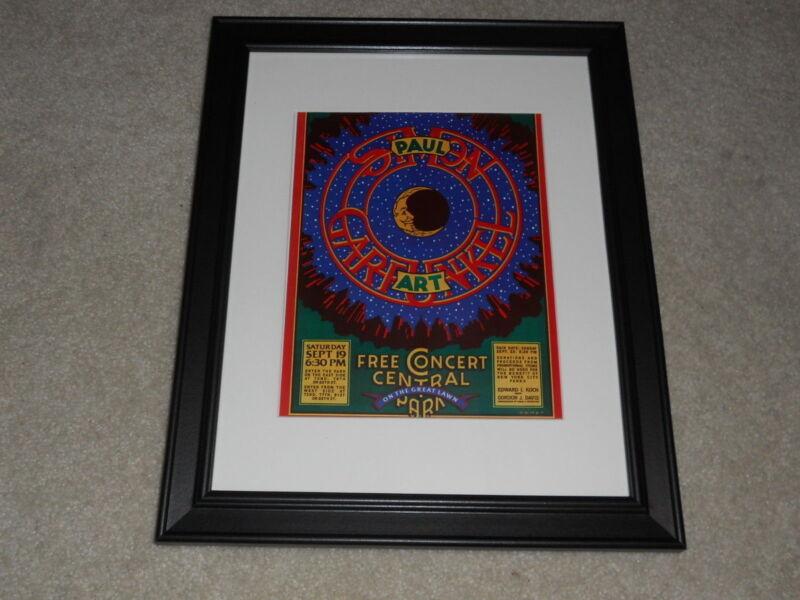 "Framed Simon & Garfunkel NYC 1981 Mini-Poster, Concert in Central Park 14""x17"""