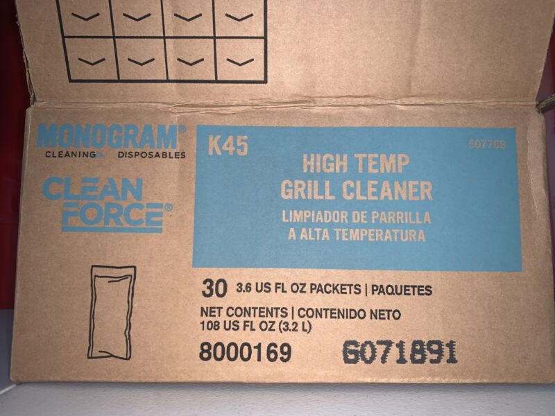 30 PACKETS Clean Force High Temp Grill Cleaner 3.6 oz 507788 New Case 8000169