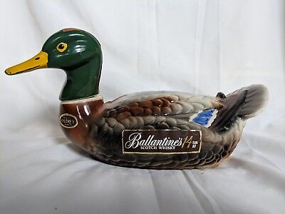 BALLANTINE'S Scotch Whiskey 1969 Mallard Duck Decanter Liquor Bottle.  Scotch Dekanter