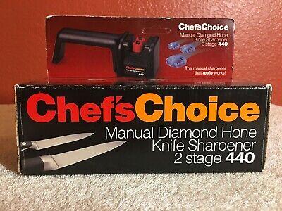 Chef's Choice Manual Diamond Hone Knife Sharpener 2 Stage 440 Chefs Choice Diamond Hone Manual