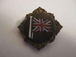RARE OLD UNION JACK FLAG (1) ENAMEL BUTTONHOLE BADGE
