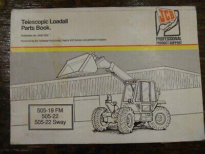 Jcb 505-19 505-22 Telescopic Loadall Forklift Telehandler Parts Catalog Manual