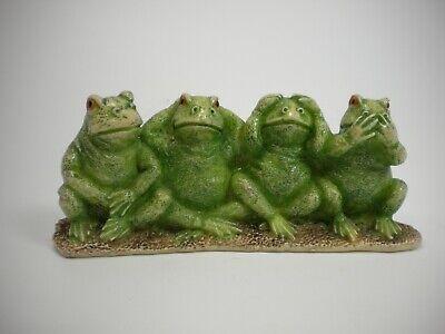 FROG COLLECTIBLE HEAR NO EVIL SEE NO EVIL SPEAK NO EVIL (GENTLY PREOWNED) Hear No Evil Frogs