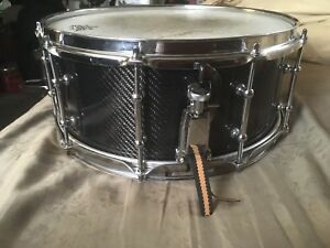 Custom carbon fiber snare drum
