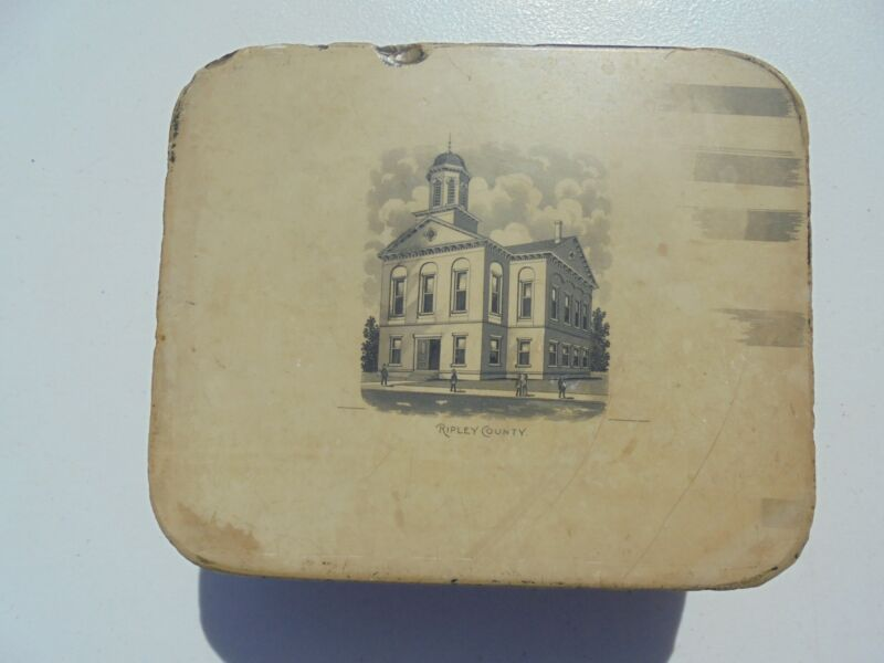 Antique Limestone Lithograph Printing Stone Ripley County Courthouse Indiana