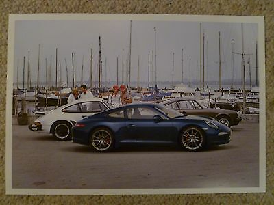 2014 Porsche 911 50th Anniversary Showroom Advertising Poster RARE! Awesome L@@K
