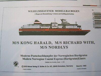 M/S Kong Harald Richard With Nordlys  Wilhelmshavener Modellbaubogen Kartonmodel