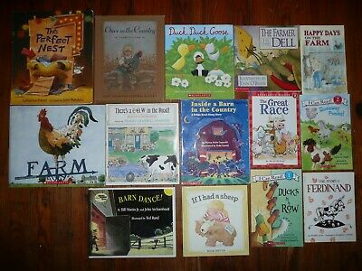 Lot 25 FARM Farmer COW Barn ROOSTER Childrens PICTURE BOOKS Tractor MAPLE HILL