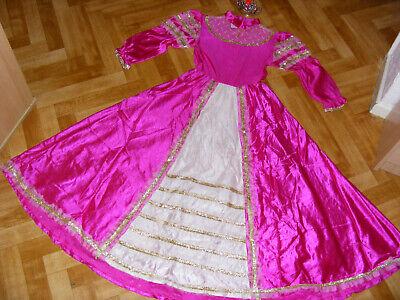 ♥ 5+ tlg. Kinder Karneval Kostüme PRINZESSIN 152 - Prinzessin Hexe Kostüme