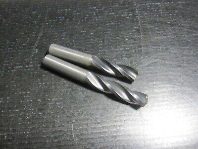 2 Used Guhring 10mm 3fl 3 Flute Carbide Drills Altin Coated
