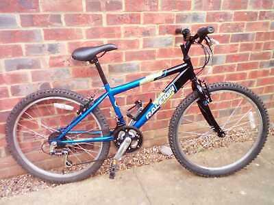 "Raleigh GECKO bike, 24"" wheels,18 speed shimano gears, blue"