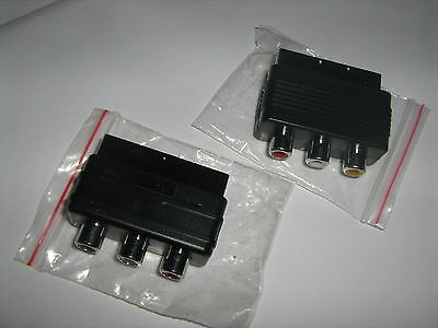 100 Stk. Chinch Scart Adapter 50x IN 50x OUT Stecker