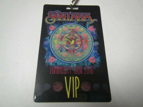 CARLOS SANTANA BAND LUMINOSITY TOUR 2016 VIP SOUVENIR HUMMINGBIRD BACKSTAGE PASS