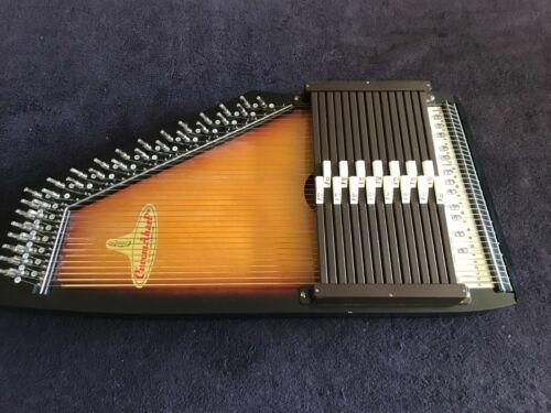 Vintage RBI Sunburst ChromAHarp Zither, 15 chord, 36 string