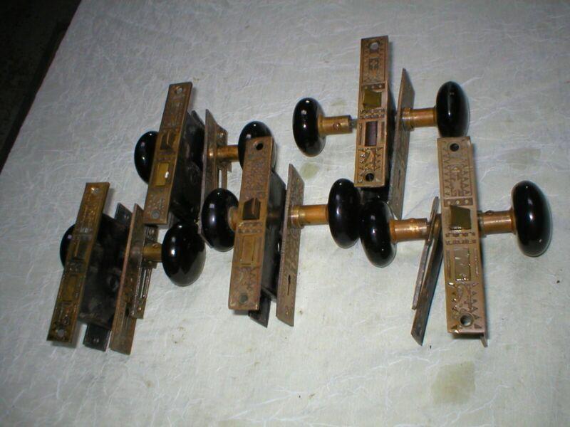 antique victorian decoritive bronze door locksets