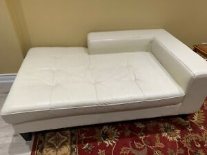 SOFA LOVE SEAT COUCH WHITE LEATHER
