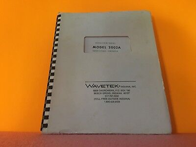 Wavetek Model 2002a Sweepsignal Generator Instruction Manual