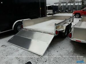 Remorque 6 x 12 ouverte en aluminium usagé