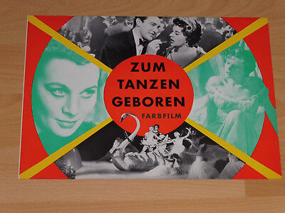 ZUM TANZEN GEBOREN - Werbebroschüre RANK ´55 - MAI ZETTERLING Val Guest