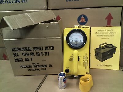 Victoreen Cdv-717 Model 1 Radiation Detector With Original Packaging 25802