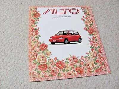 1991 SUZUKI ALTO SALES BROCHURE IN JAPANESE