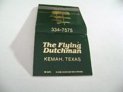 "1- Match Book, ""THE FLYING DUTCHMAN RESTAURANT"", Kemah, TX, complete."