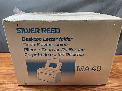 New Silver Reed Desktop Letter Folder Ma 40