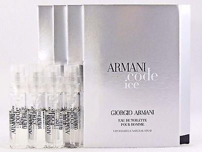 GIORGIO ARMANI ARMANI CODE ICE 1.5ml .05fl oz x 4 COLOGNE