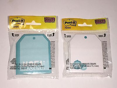Post-it Notes Super Sticky Blue Christmas Noel Ornaments100 Notes Set Of 2
